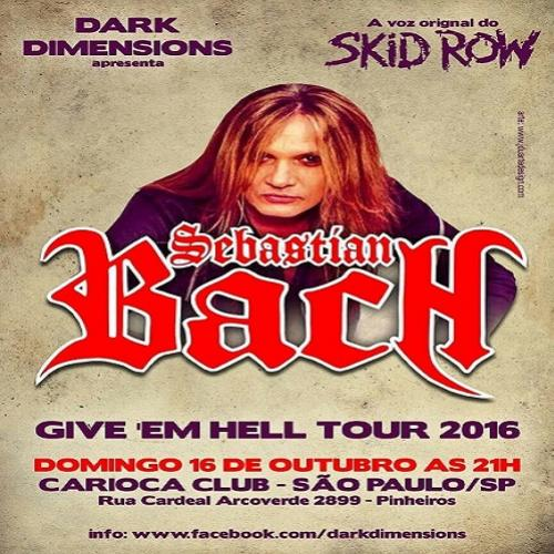 Sebastian Bach, ex vocal do Skid Row faz show no domingo em SP
