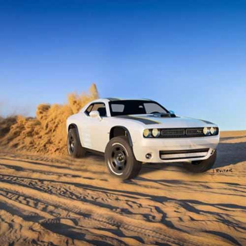 Dodge Challenger Muscle Car e Off-Road