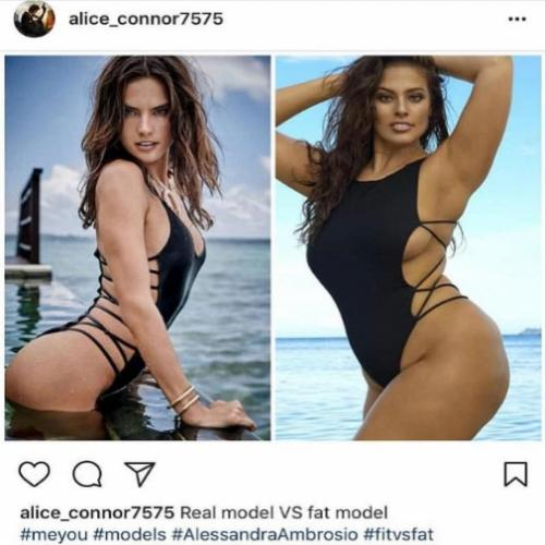 Ashley Graham é comparada a Alessandra Ambrosio e chamada de