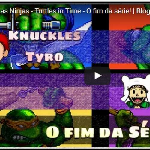 Novo vídeo! Fim da série de Tartarugas Ninja: Turtles in time!
