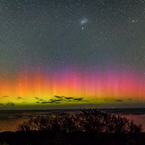 As cores mágicas da Aurora Austral