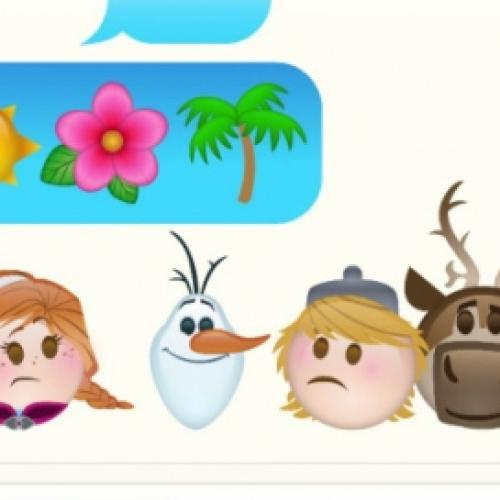 Frozen contada com emoticons do whatsapp