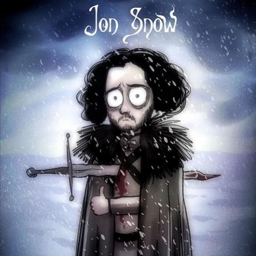 E se Tim Burton ilustrasse os personagens de Game Of Thrones