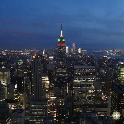 Top of the Rock - A melhor vista de New York.