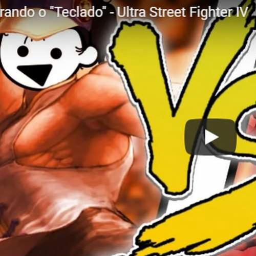 Quebrando o teclado no Street Fighter IV !