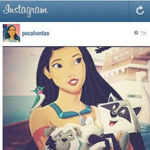 E se as princesas da Disney também usassem Instagram?