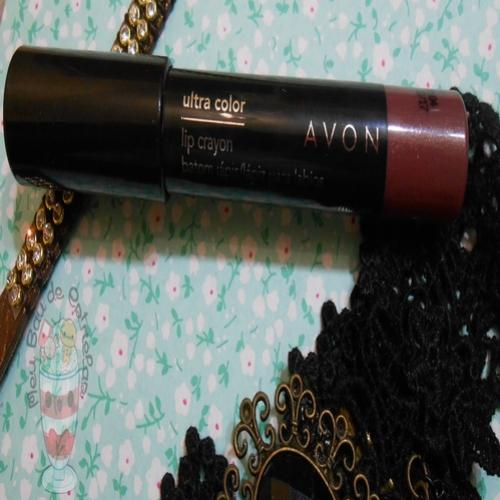 Resenha: Avon Ultra Color Lip Crayon - Malva