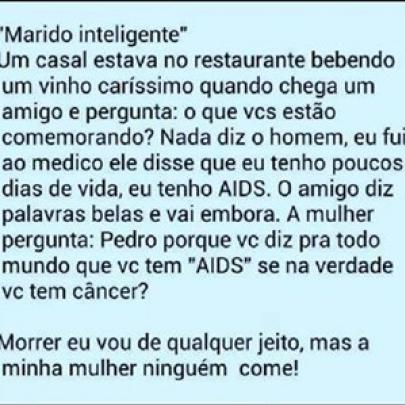Piada do marido inteligente